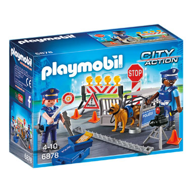 PLAYMOBIL City Action politie wegversperring 6878