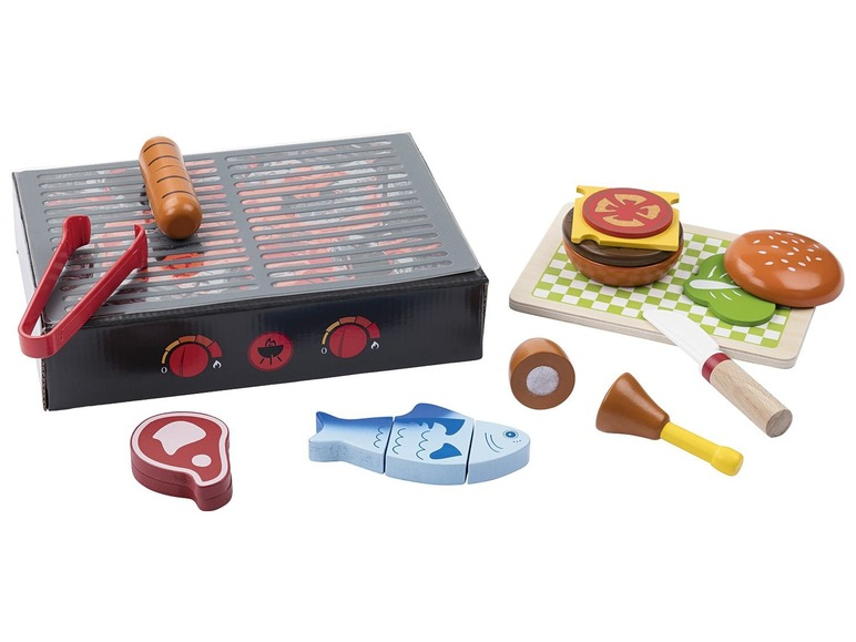 PLAYTIVE JUNIOR Houten etenswarenset BBQ-set