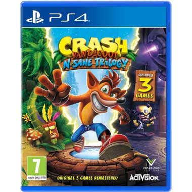 PS4 Crash Bandicoot N Sane Trilogy + 2 Bonus Levels
