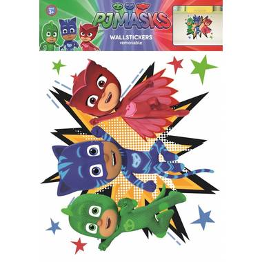 Pj masks group - muursticker - multi