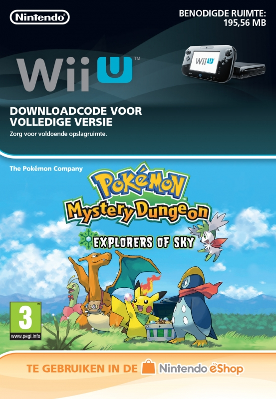 Pokémon Mystery Dungeon: Explorers of Sky Virtual Console