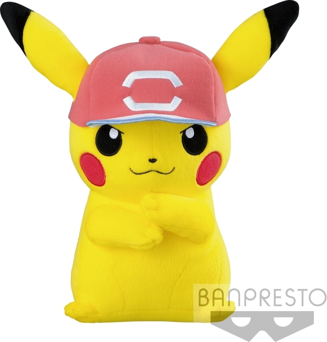 Pokemon Pluche - Pikachu with Trainer Hat