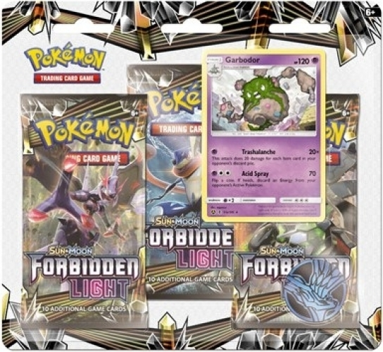 Pokemon TCG Sun & Moon Forbidden Light 3 Booster Pack - Garbodor