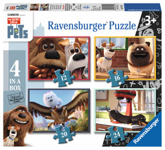 Ravensburger puzzel 4 in a box The secret life of