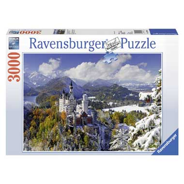 Ravensburger puzzel Slot Neuschwanstein in de winter - 3000 stukjes