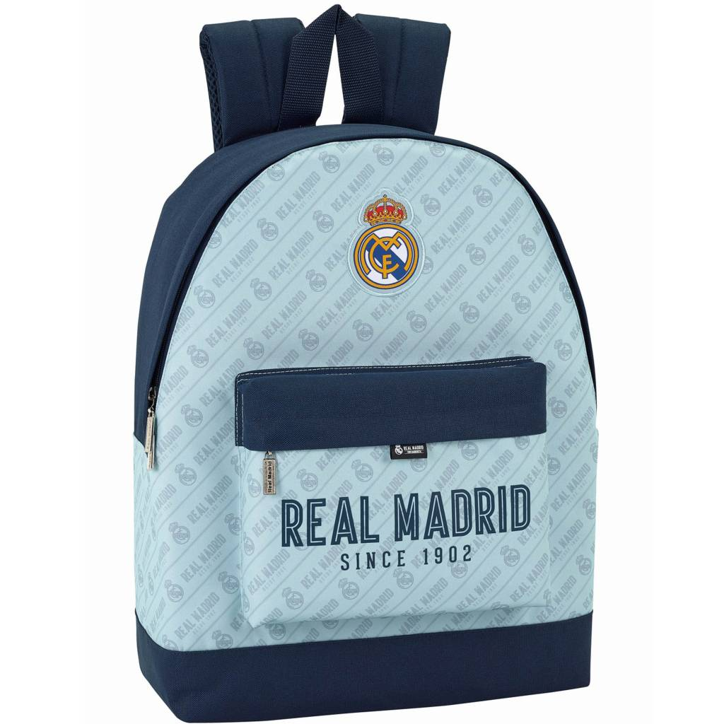 Real Madrid Rugzak blauw 43 x 32,5 x 15 cm - polyester