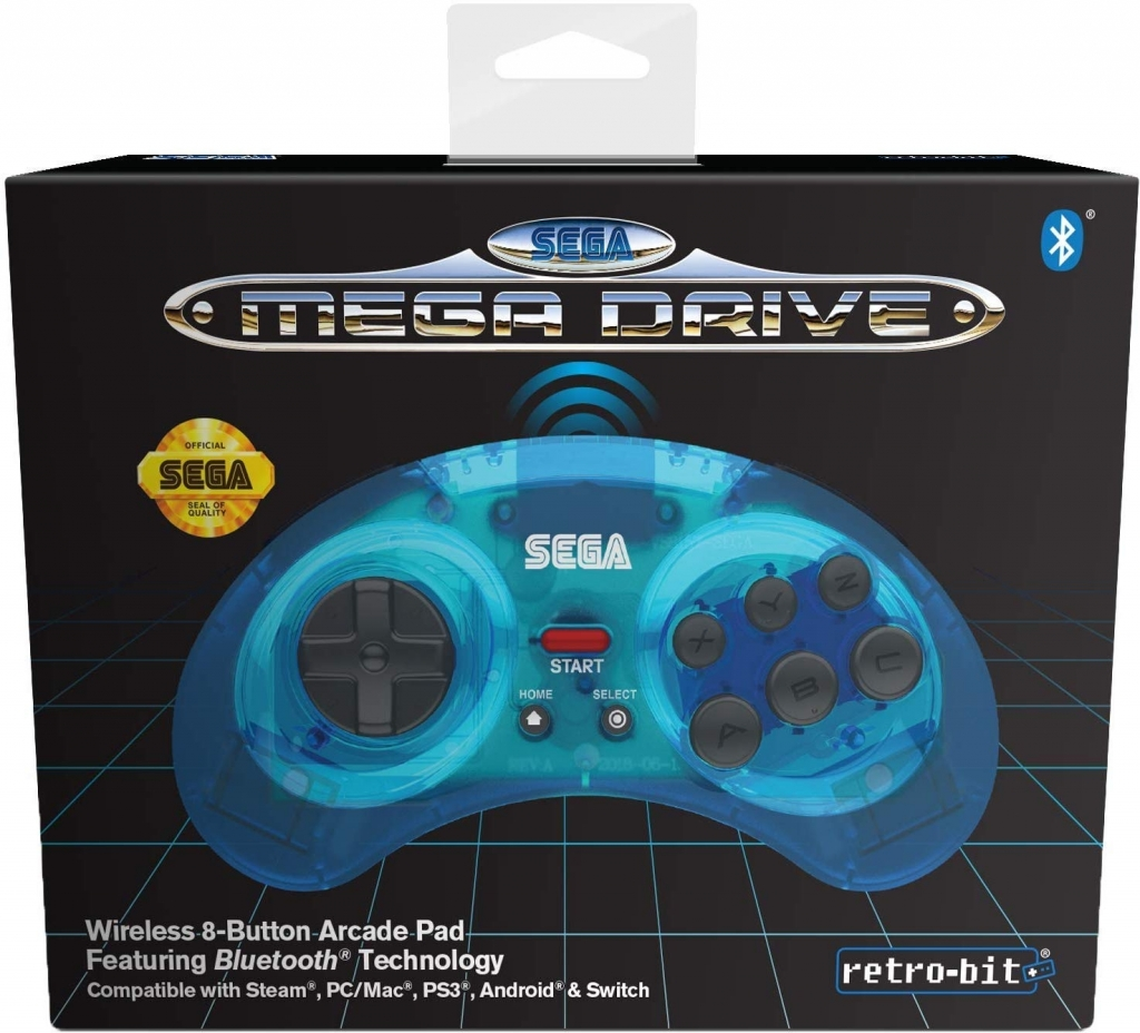 Retro-Bit SEGA Mega Drive Bluetooth Gamepad (Blue)