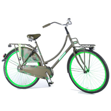 Salutoni Oma damesfiets Camouflage - 28 inch - groen