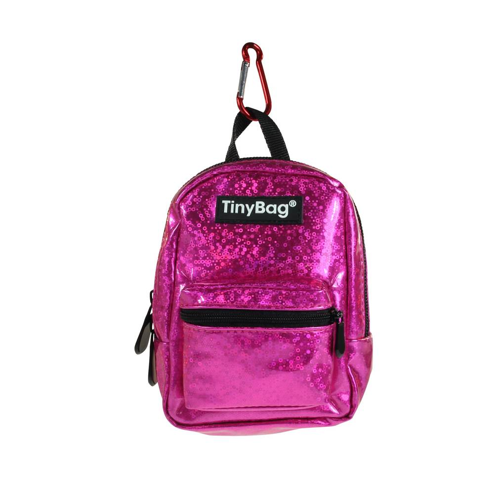 Tiny Bag Shiny Pink glitter rugzak