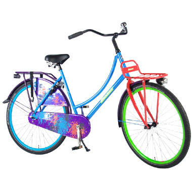 Transport fiets Urban graffitii - 28 inch - multikleur