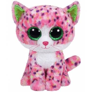 Ty beanie boo\s sophie pluche roze poes knuffel 15 cm