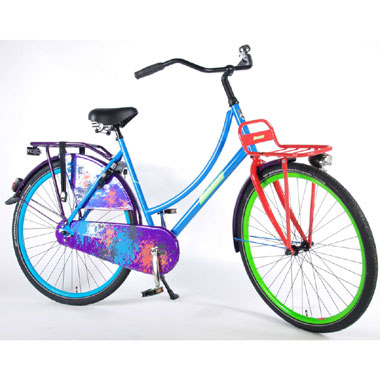 Urban transport fiets graffiti - 28 inch - multikleur