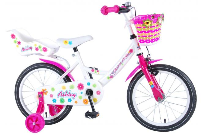 Volare Ashley Kinderfiets - Meisjes - 16 inch - Wit