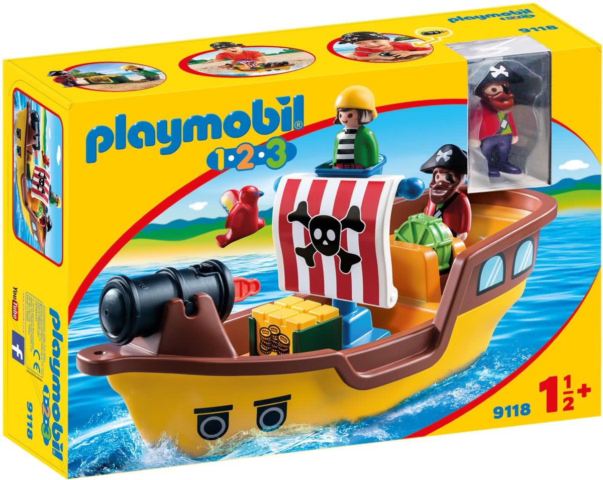 PLAYMOBIL 1.2.3 Piratenschip   - 9118
