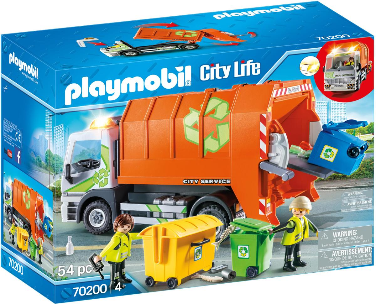 PLAYMOBIL  Afval recycling truck - 70200