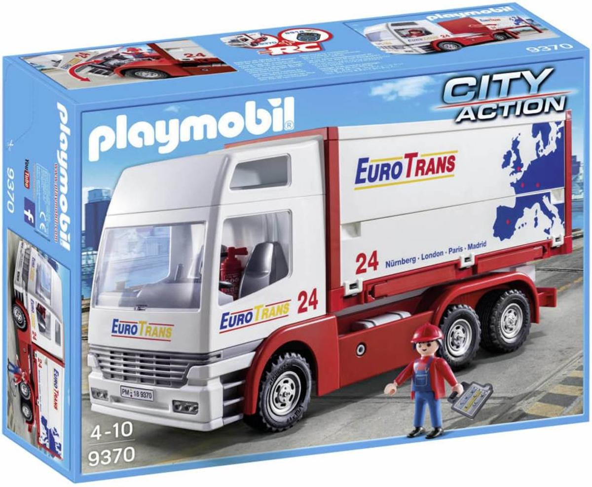 PLAYMOBIL Euro Trans Transport Truck - 9370