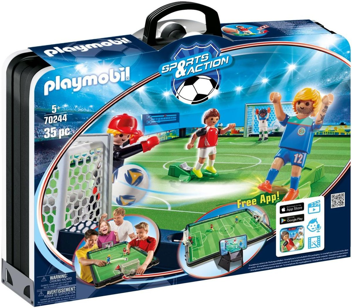 PLAYMOBIL Sports & Action &  Meeneem voetbalstadion - 70244