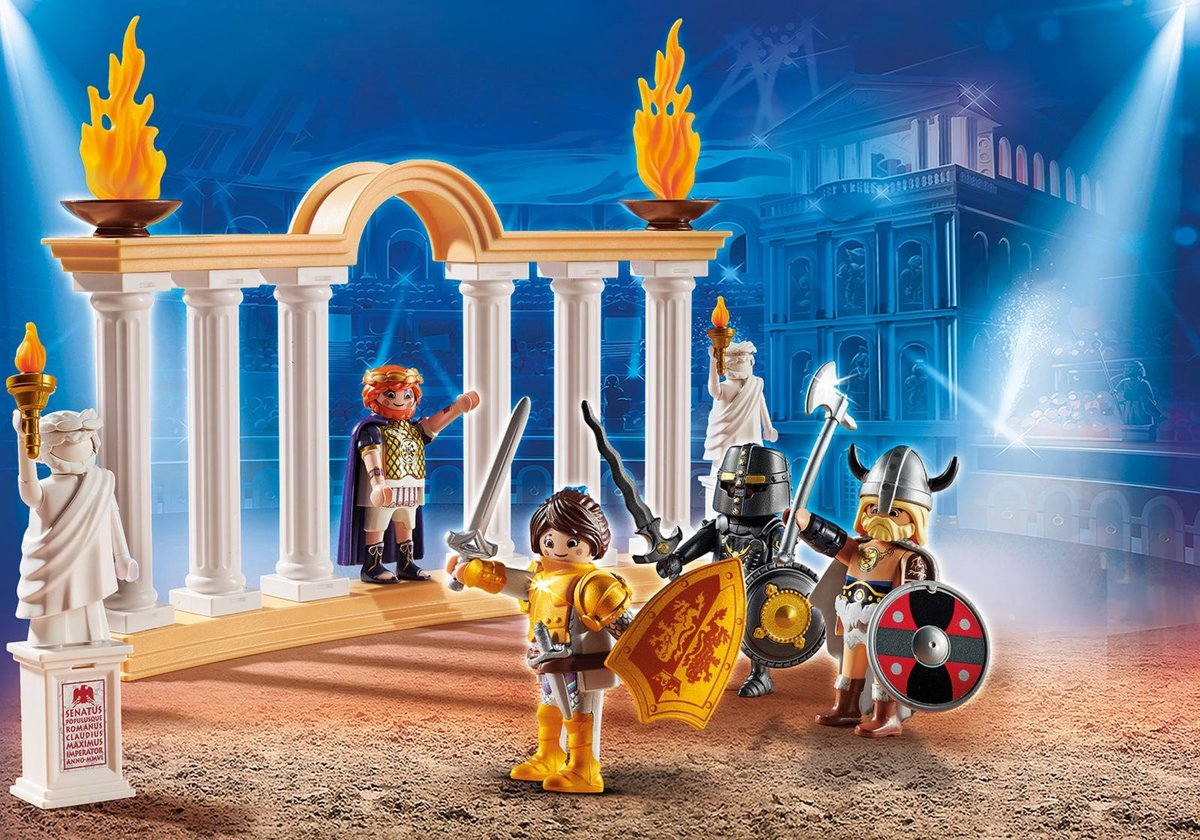 PLAYMOBIL THE MOVIE Keizer Maximus in het Colosseum/PLAYMOBIL THE MOVIE Empereur Maximus et Colisée