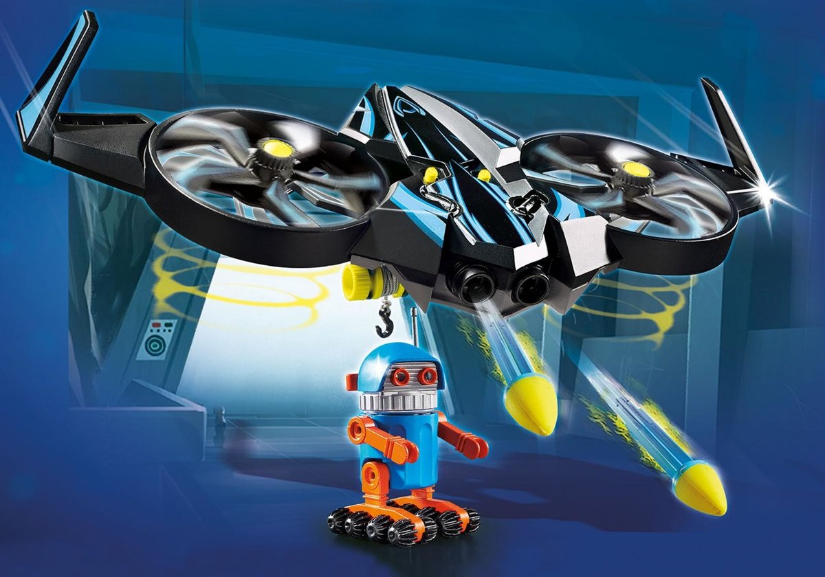 PLAYMOBIL THE MOVIE Robotitron met drone/PLAYMOBIL THE MOVIE Robotitron avec drone