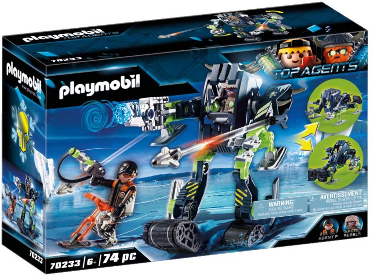 PLAYMOBIL Top Agents Arctic Rebels sneeuwrobot - 70233