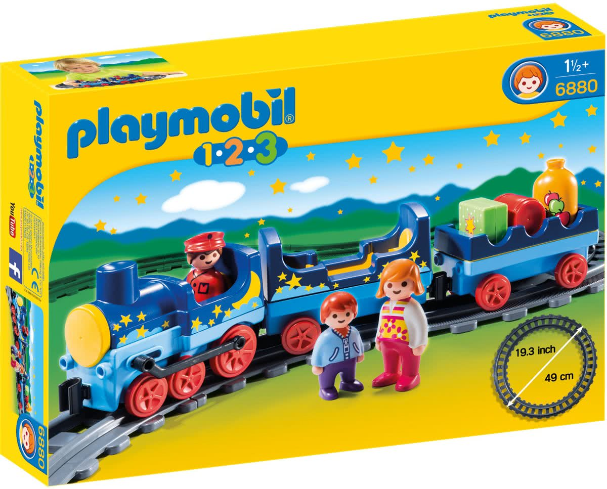 Playmobil 1.2.3. Sterrentrein met passagiers - 6880
