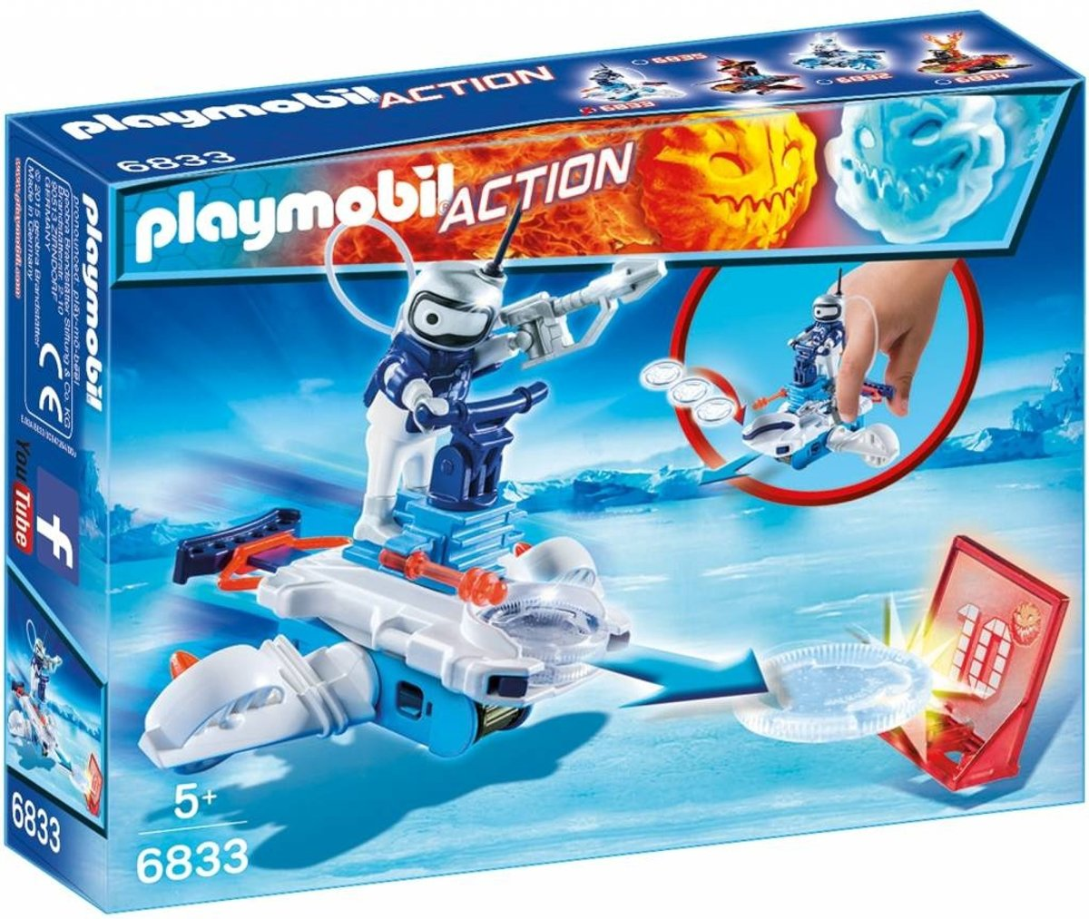 Playmobil Action Icebot Met Disc-shooter (6833)