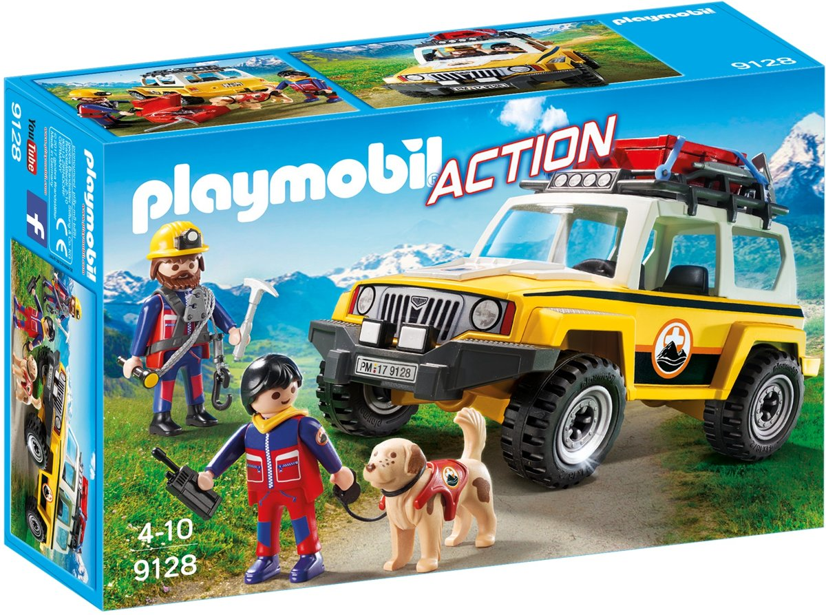 Playmobil Action: Reddingswerkers Met Terreinwagen (9128)