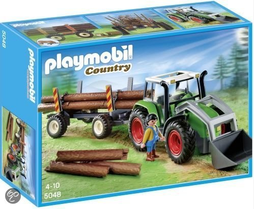 Playmobil Tractor met houttransport - 5048