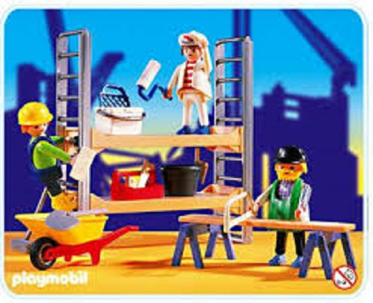 Playmobil set 3833 Construction Bouwvakkers Vintage set