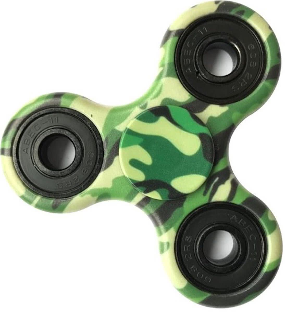 Hand Spinner - Anti Stress - Camouflage Leger Groen/Green