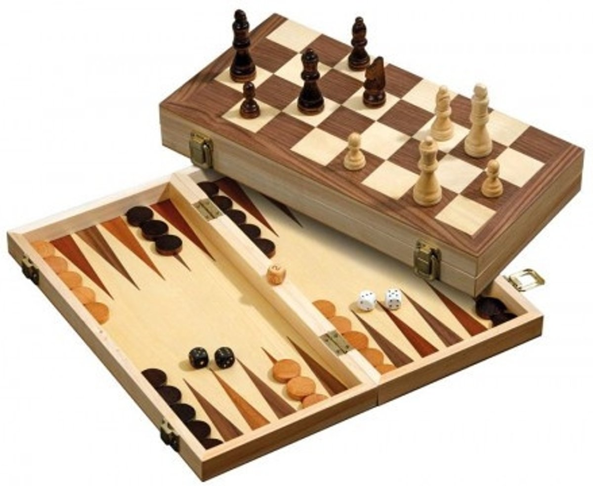 Philos 3-1 set 40mm - Backgammon, schaken en dammen