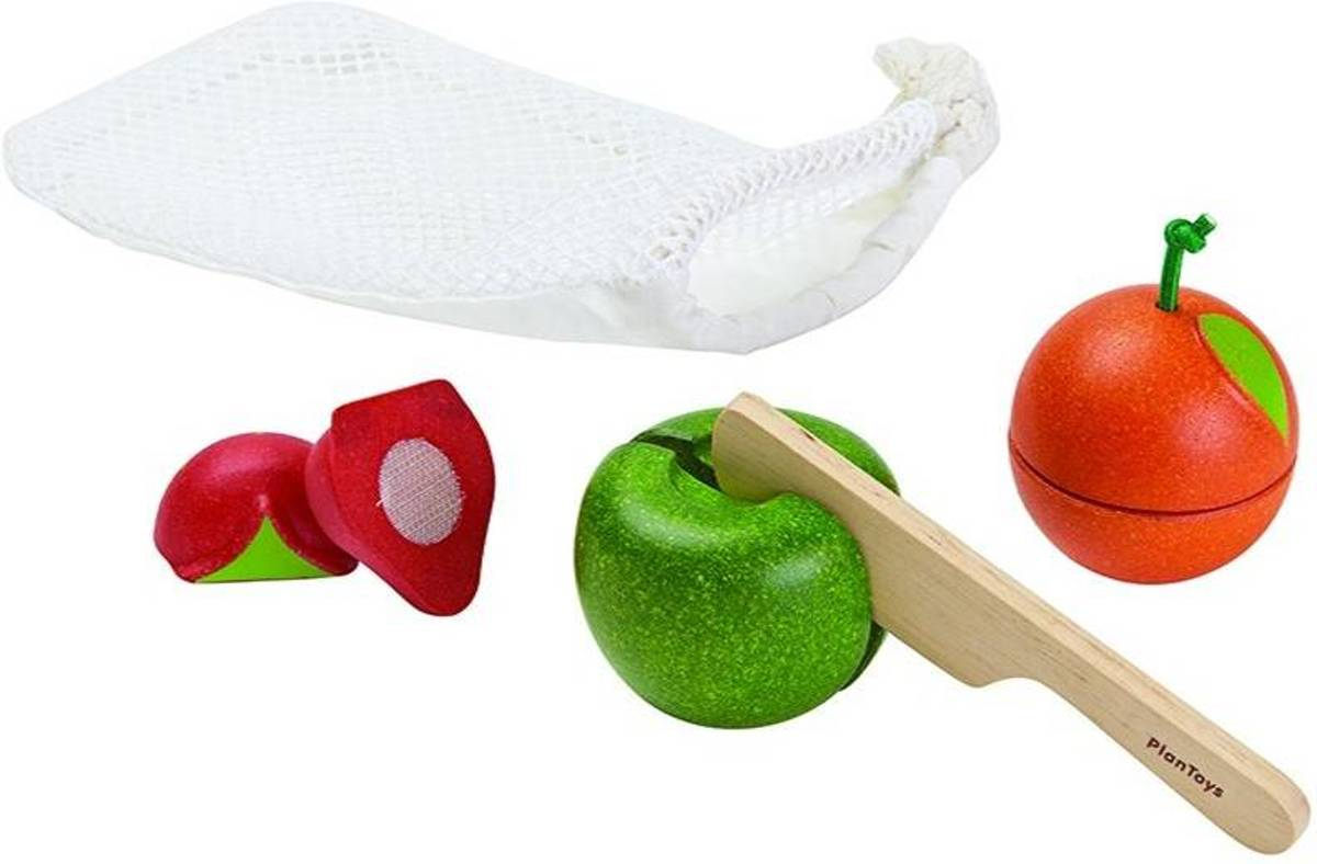 Plan Toys Fruit set - zak 6/stuk Plan Toys Fruit set - zak 6/stuk