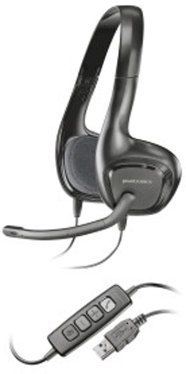 Plantronics Audio 628 Headset - Zwart