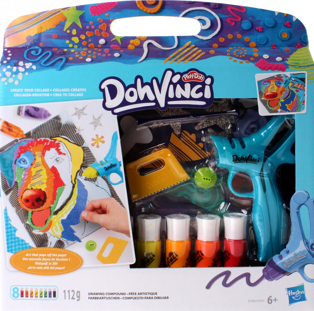Play-doh Dohvinci Stencil Your Art Blauw 12-delig