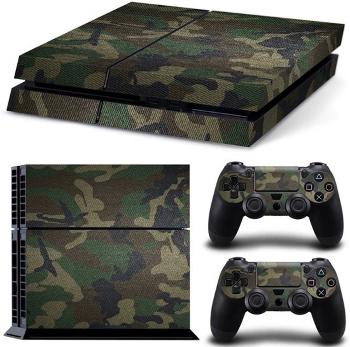 PS4 Console Skin | Army | +2 Controller Stickers voor Playstation 4