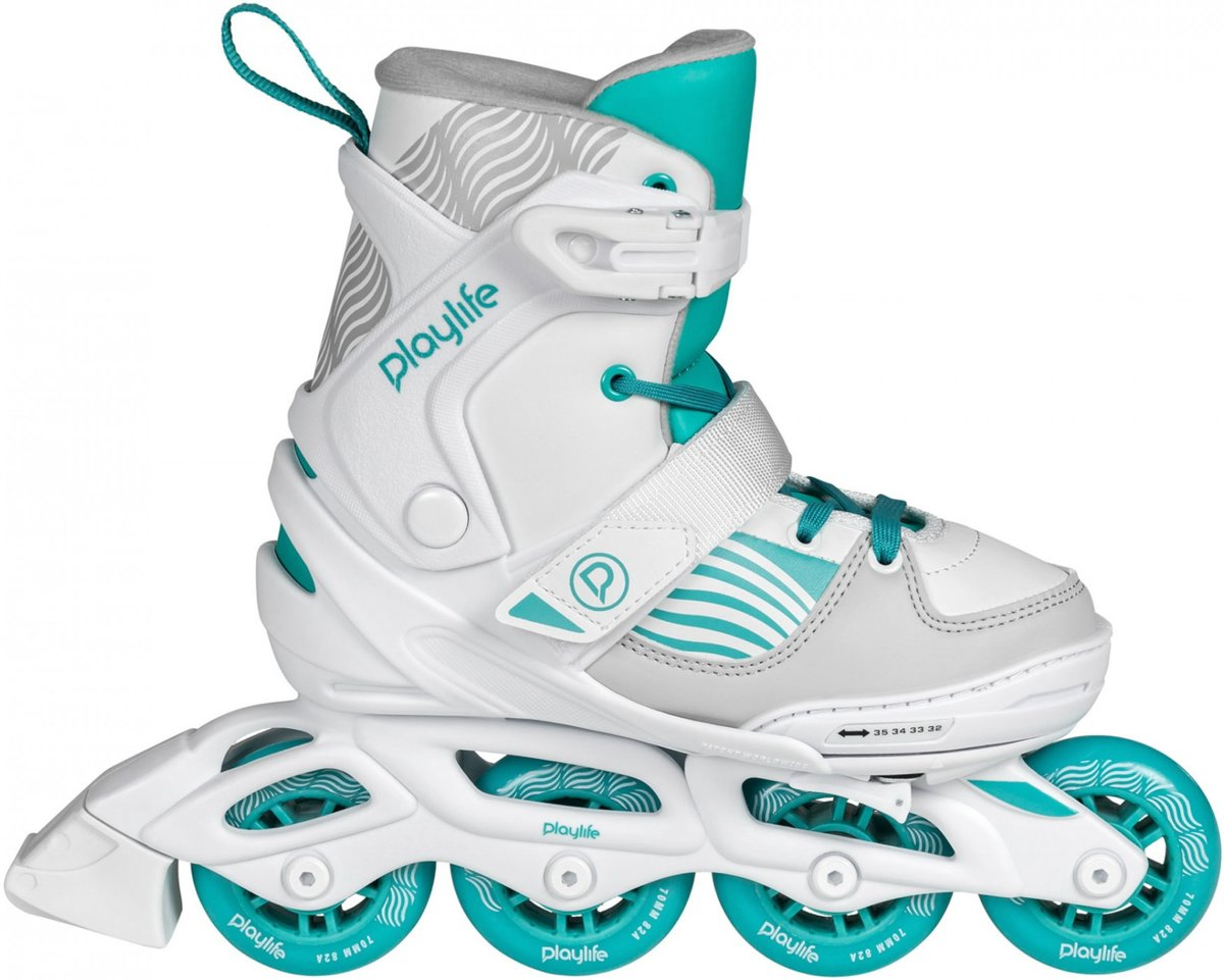 Playlife Inline Skates Light Breeze Wit/turquoise Mt 29/32