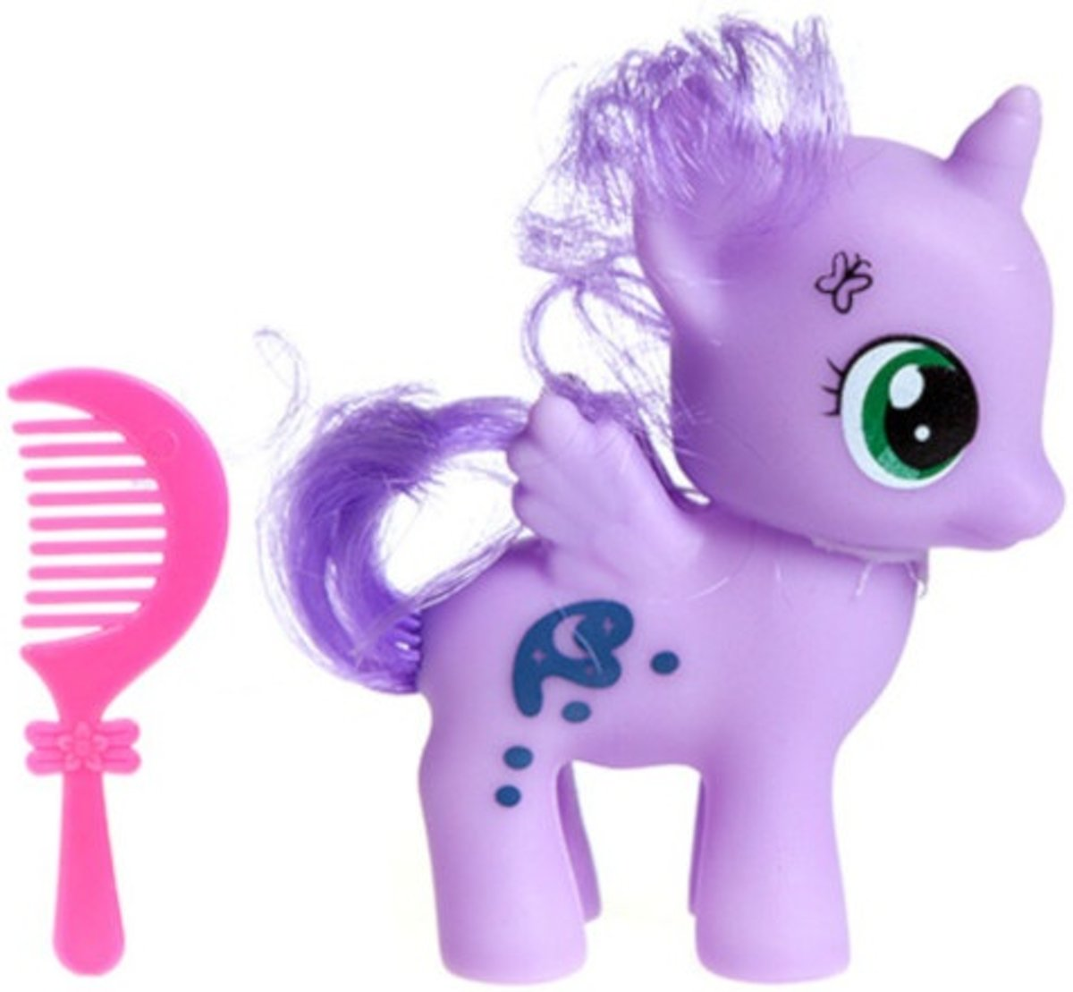 Pms Speelset Magical Pony 6 Cm Paars 2-delig