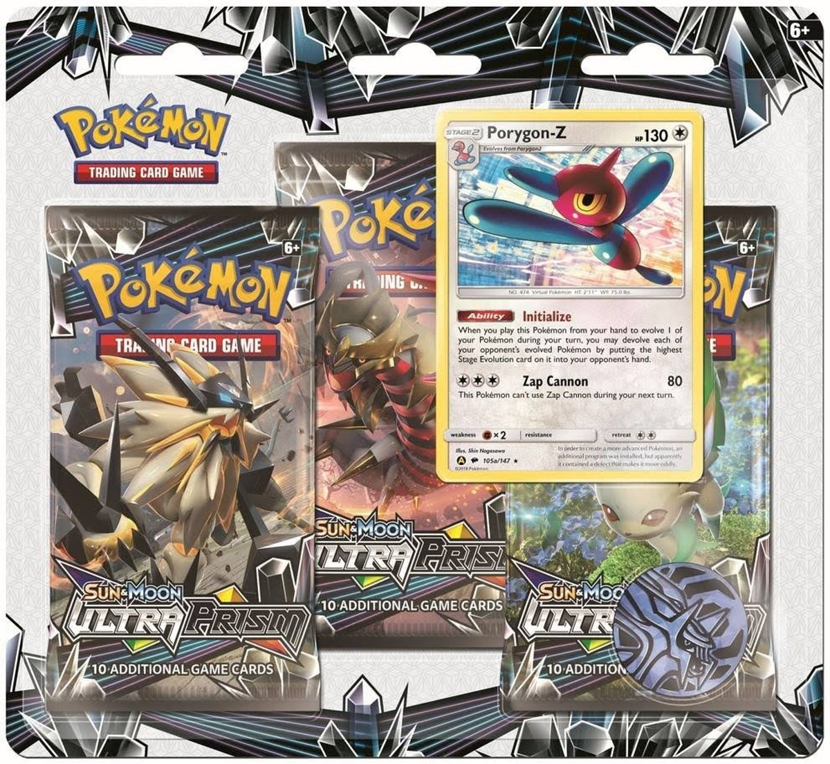 Sun & Moon Ultra Prism 3-booster Blister Porygon-z