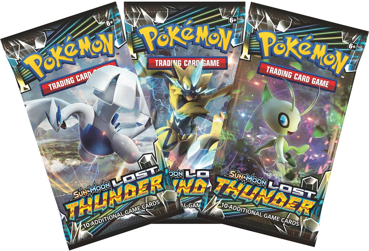 Pokemon 3 Booster Pakjes Lost Thunder
