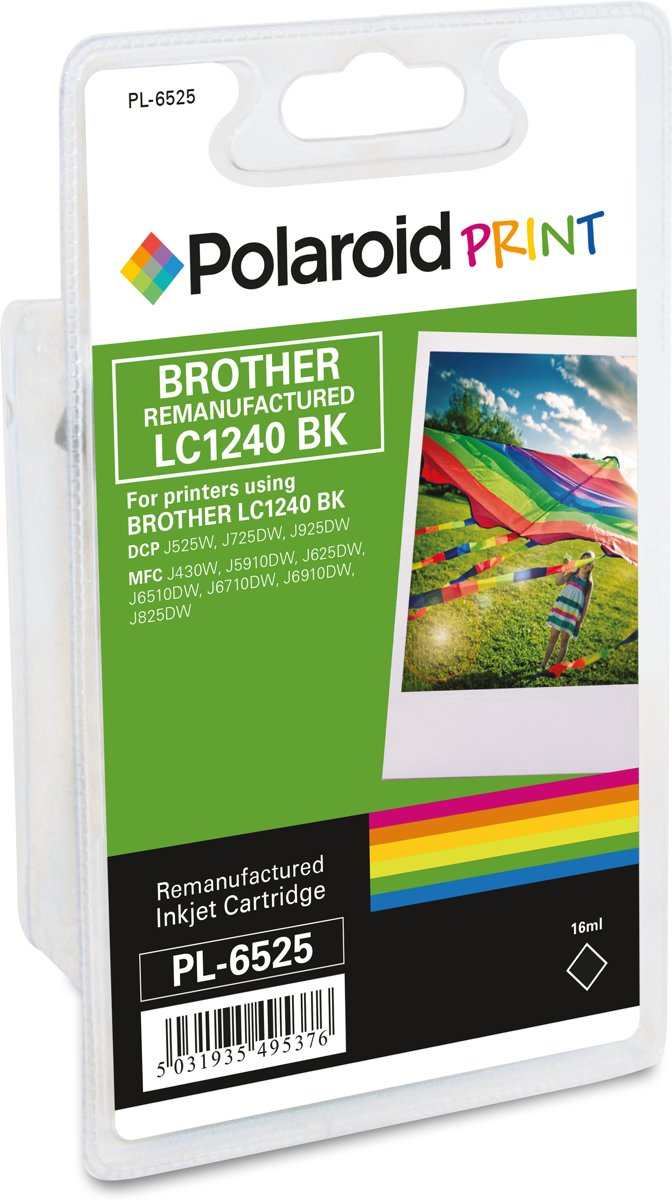 Polaroid inkt RM-PL-6525-00 voor brother LC1240BK