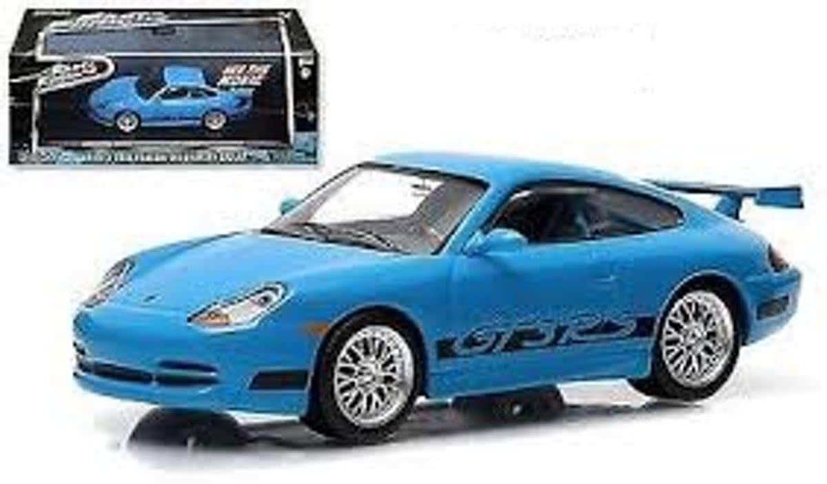 Brians Porsche 911 Carrera GT3 RS 2001 Blauw Fast and the Furious 1-43 Greenlight Collectibles