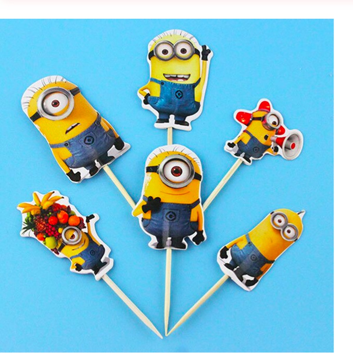 ProductsGoods - 24 x Leuke Minions cocktailprikkers