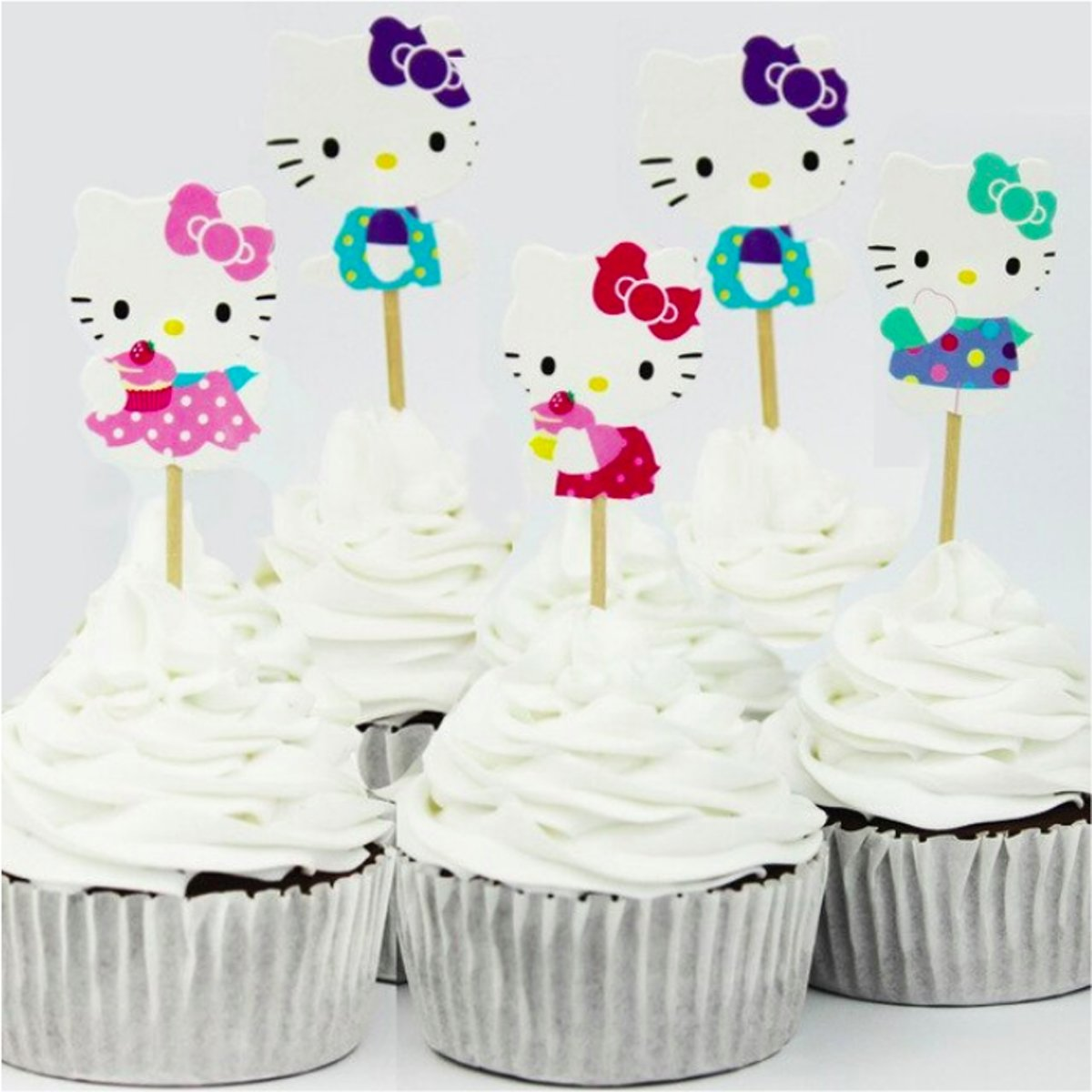 ProductsGoods - 36x Leuke cocktailprikkers Hello Kitty | Hello Kitty | Verjaardag | Sateprikkers | Traktatie | Feest