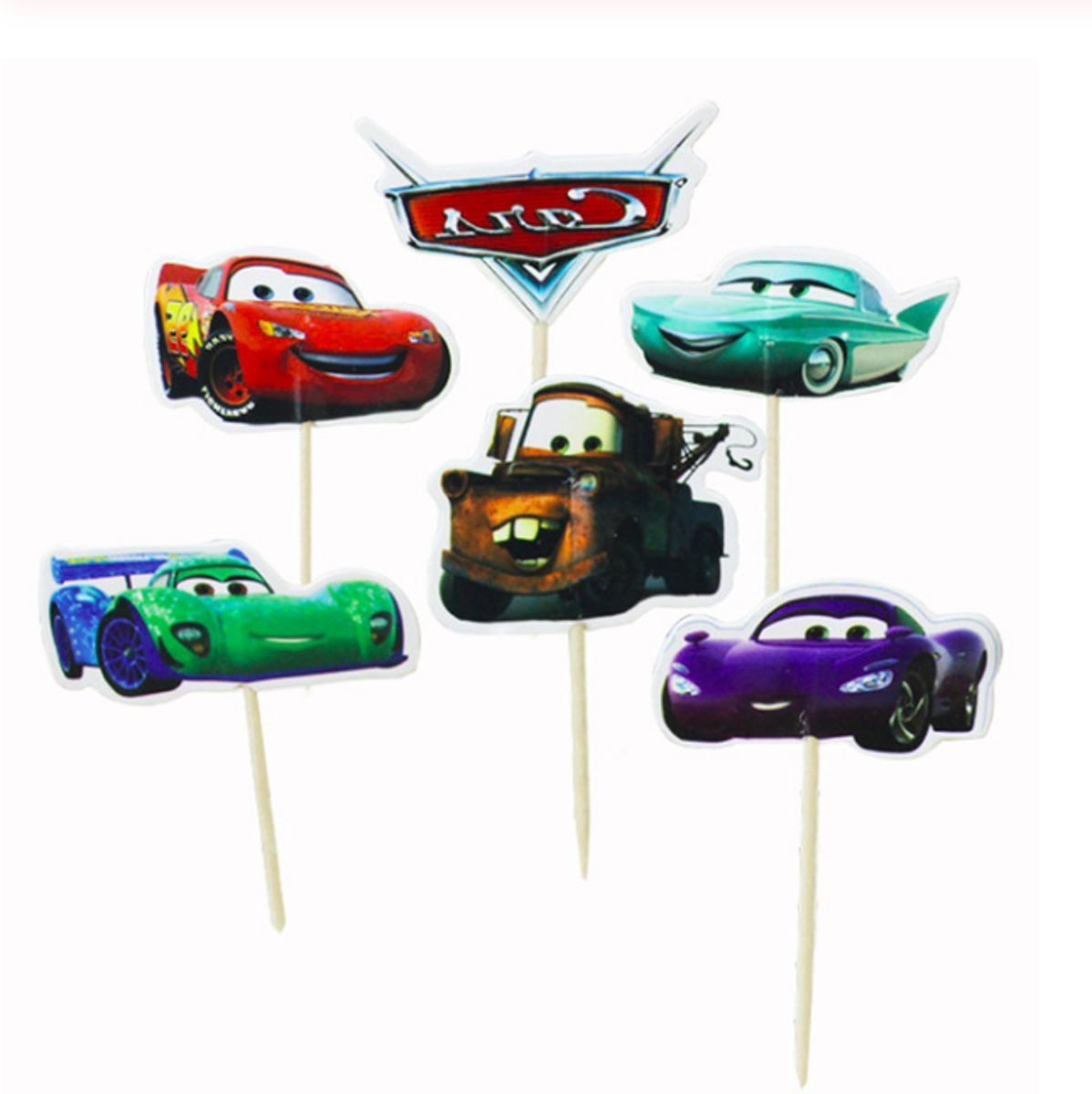 ProductsGoods - 48 x Leuke Cars coctailprikkers