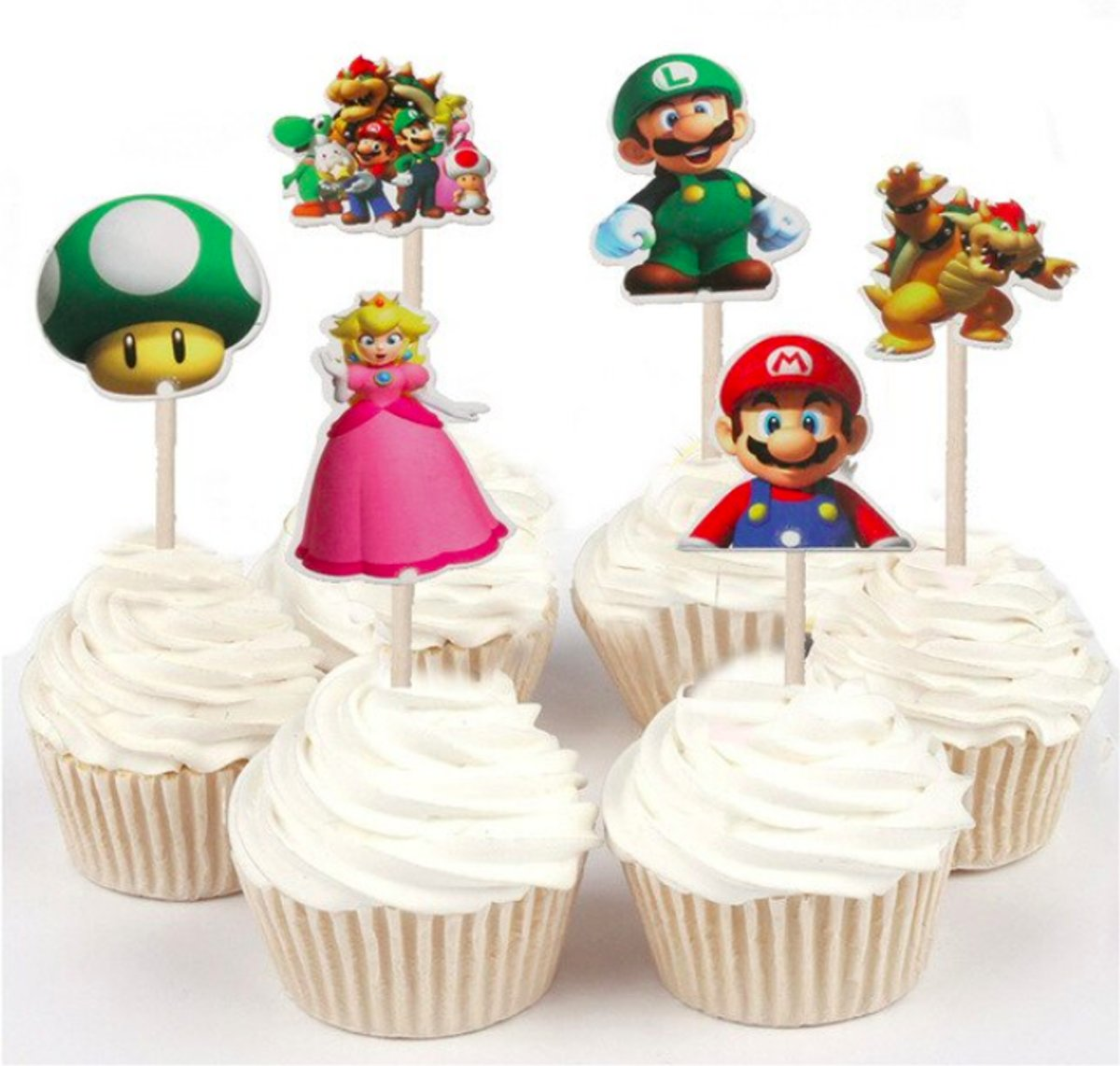ProductsGoods - 48 x Leuke Mario coctailprikkers