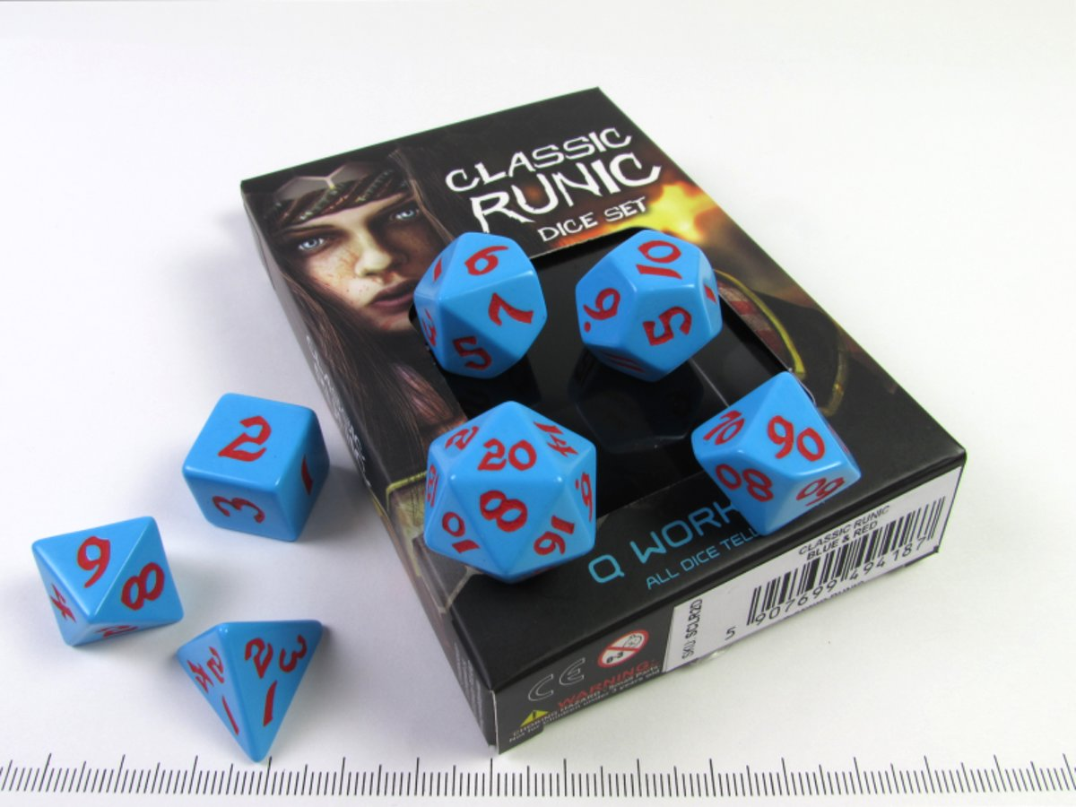 Classic Runic – Blue w/red