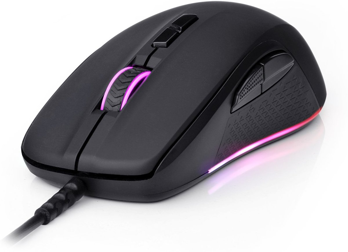 Mouse M718 Optical 10000 DPI black color - Maus - Optisch muis