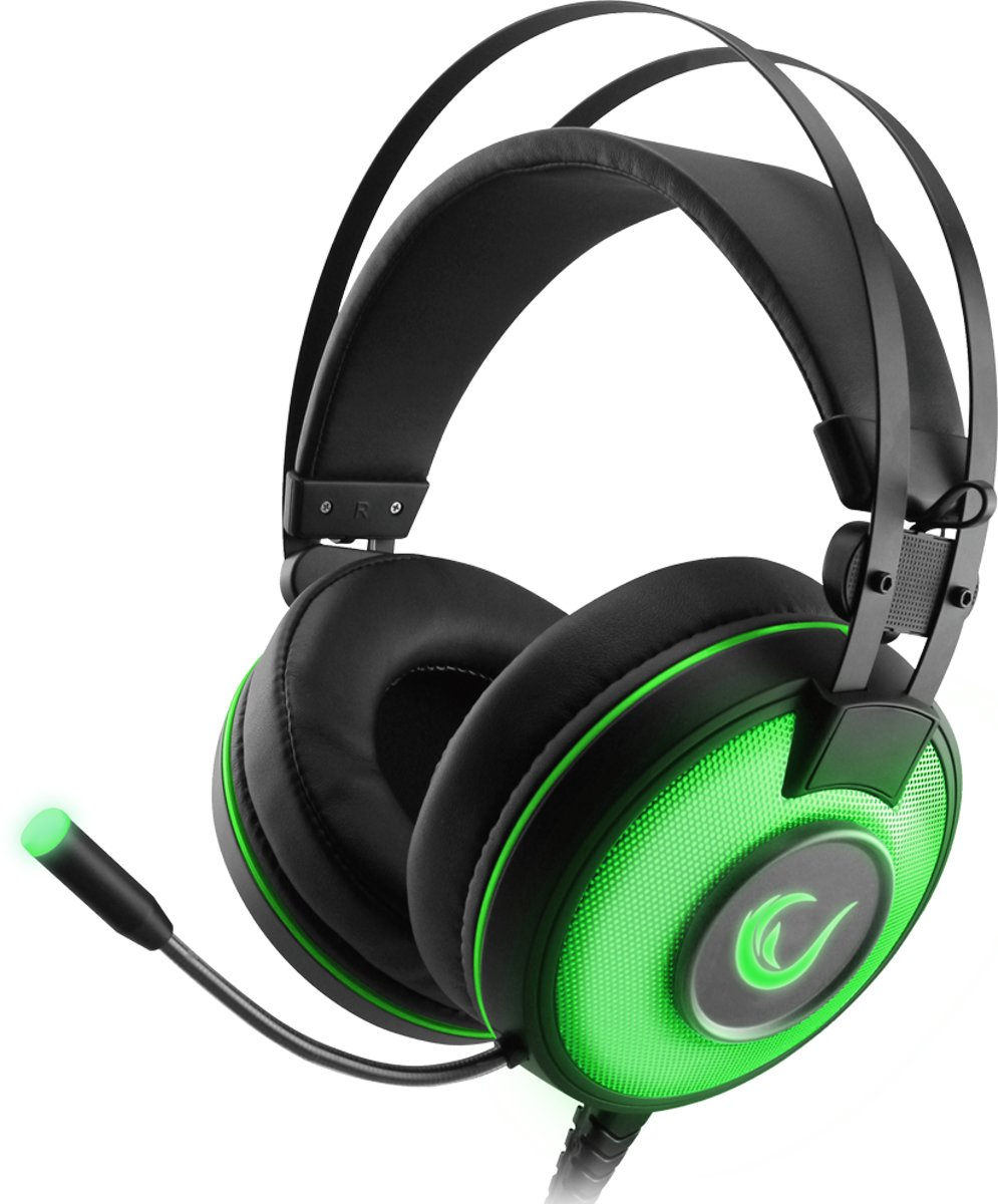 Rampage Gaming Headset ALPHA-X -Dolby 7.1 Surround Sound - PC-PS4-XBOX One - SN-RW66-groen