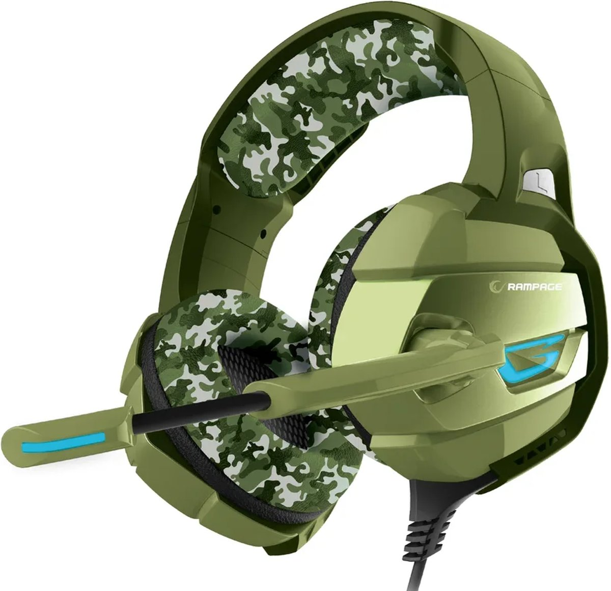 RM-K5 camouflage 7.1 surround sound gaming headset