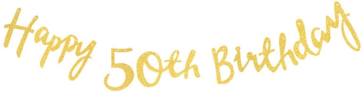Gouden Slinger Verjaardag 50th Birthday 8714304093317